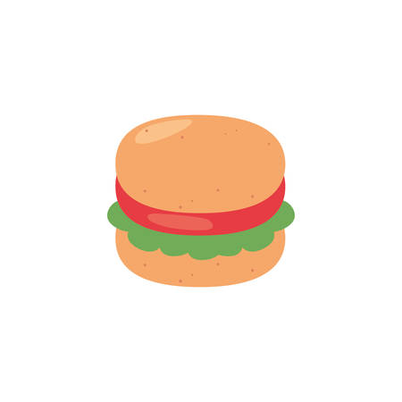hamburger icon design, Eat food restaurant menu dinner lunch cooking and meal theme Vector illustration Ilustração
