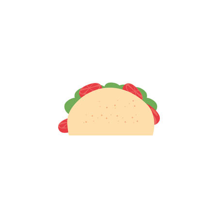 Taco icon design, Eat food restaurant menu dinner lunch cooking and meal theme Vector illustration Ilustração