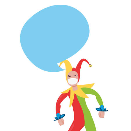 jester comic april fools day vector illustration