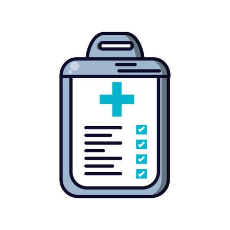 clipboard checklist with document hospital vector illustration design
