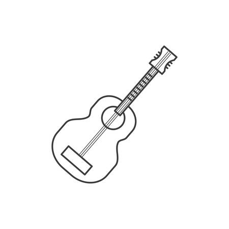 acoustic guitar instrument icon vector illustration design Ilustrace