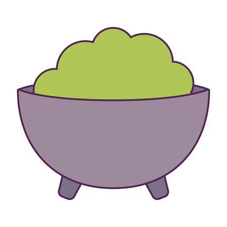 bowl of guacamole isolated icon vector illustration design