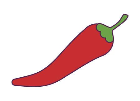 chili pepper mexican isolated icon vector illustration design