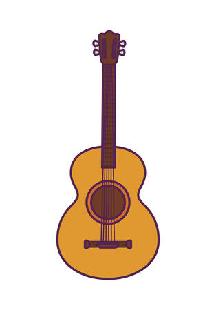 guitar instrument music mexican isolated icon vector illustration design