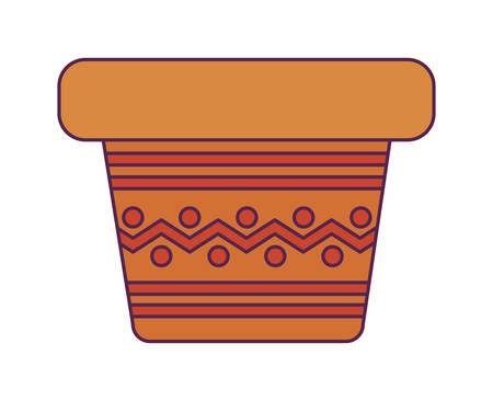 pot plant decoration isolated icon vector illustration design