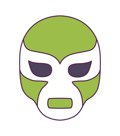 mexican fighter mask isolated icon vector illustration design