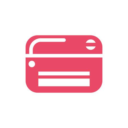 credit card on white background vector illustration design