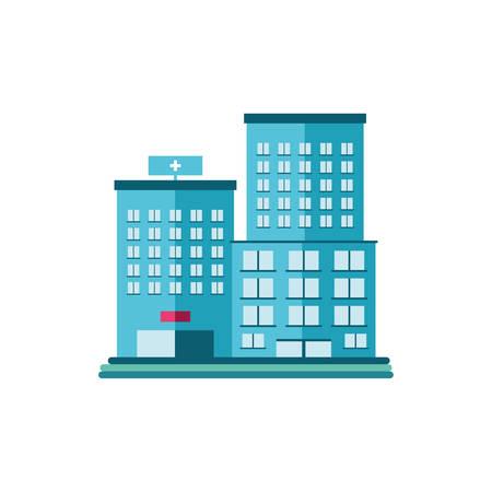 hospital building on white background vector illustration design Ilustración de vector