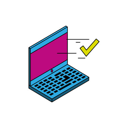 laptop computer device icon vector illustration design