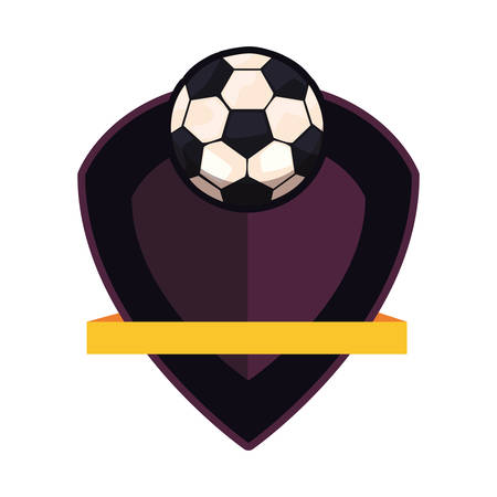 football ball sport emblem banner vector illustration design