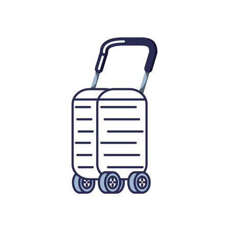 suitcase with wheels icon vector illustration design