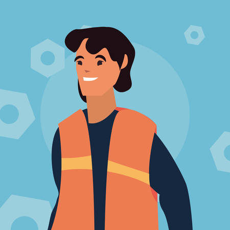 worker employee profession labour day vector illustration Ilustracja