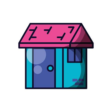 house facade isolated icon vector illustration design Ilustracja