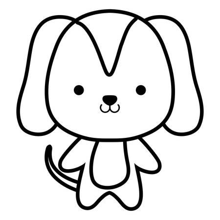 cute and little dog character vector illustration design Standard-Bild - 133350538