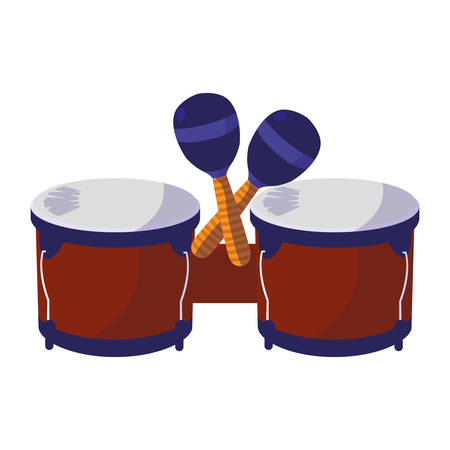 timbal instrument musical icon vector illustration design Ilustração