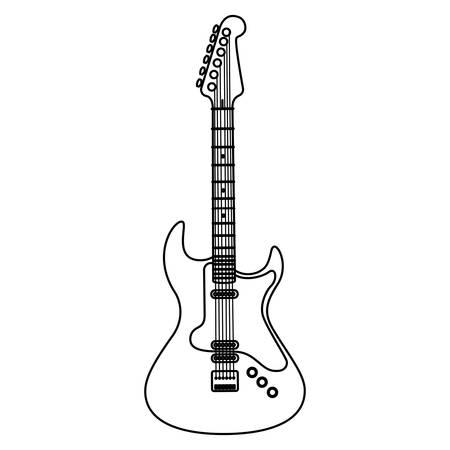 Guitarra instrumento eléctrico icono musical diseño ilustración vectorial