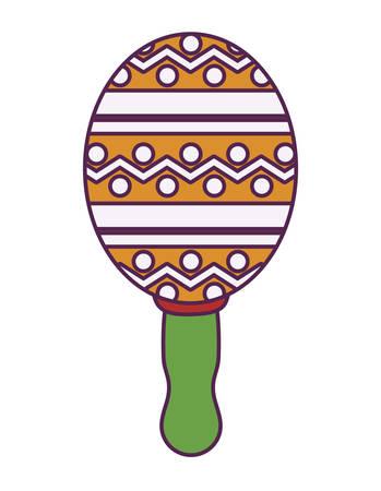 maracas instrument music mexican isolated icon vector illustration design Фото со стока - 133395580