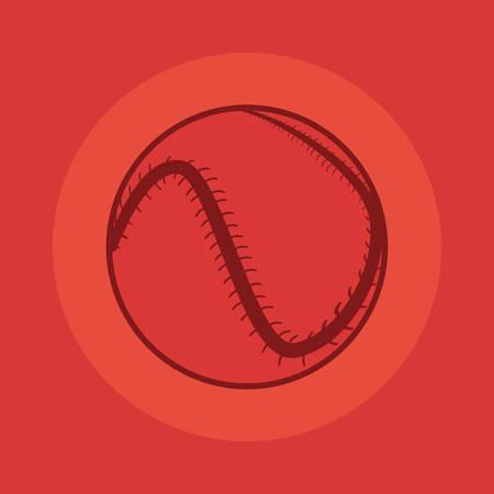 baseball ball sport on red background vector illustration design Archivio Fotografico - 133154227