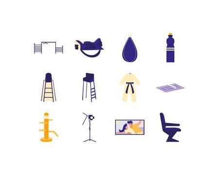 movie and sport icon set pack, High Quality variety symbols Vector illustration Archivio Fotografico - 133167964