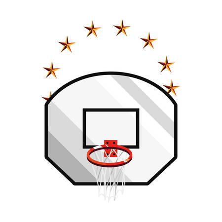 basketball sport basket board emblem vector illustration