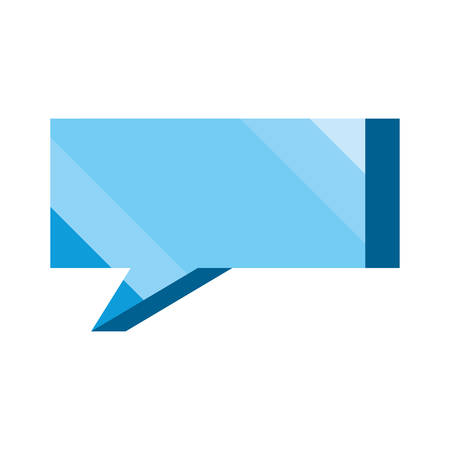 speech bubble message icon on white background vector illustration