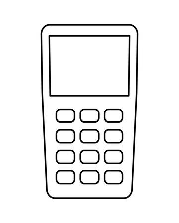 dataphone device isolated icon vector illustration design Ilustrace