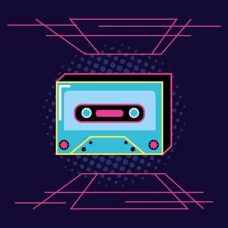 cassette tape of nineties icon vector illustration design