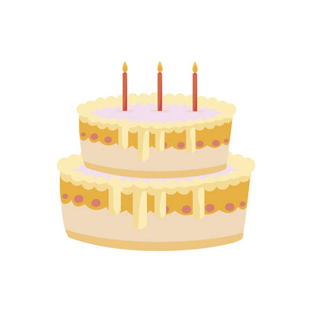 sweet cake birthday with candles vector illustration design Stock Vector - 133217556