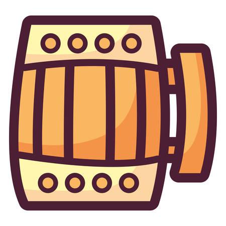 beer wooden jar icon vector illustration design