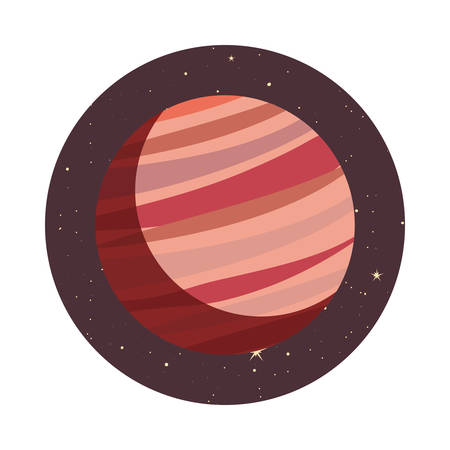 system solar planet galaxy icon vector illustration