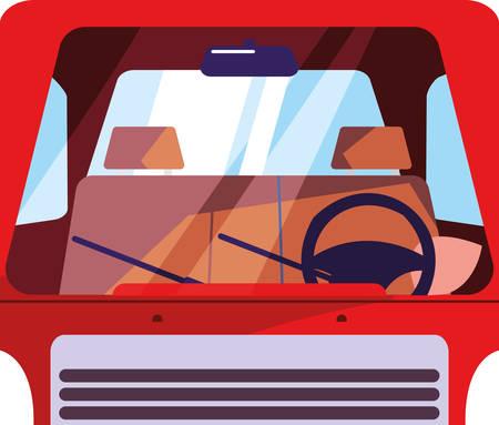 truck icon design, transportation vehicle drive travel traffic theme Vector illustration