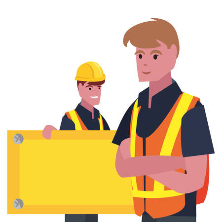 workers empty board labour day vector illustration  イラスト・ベクター素材