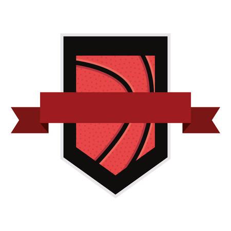 basketball sport ball banner background vector illustration