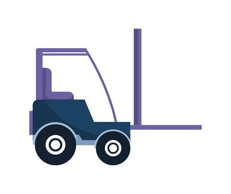 in costruzione carrello elevatore veicolo illustrazione vettoriale design