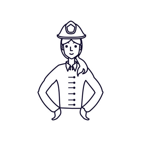police officer female avatar character vector illustration design  イラスト・ベクター素材