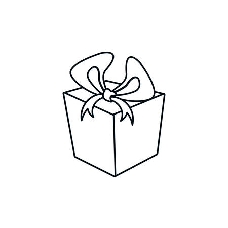 gift box present isolated icon vector illustration design Ilustracja