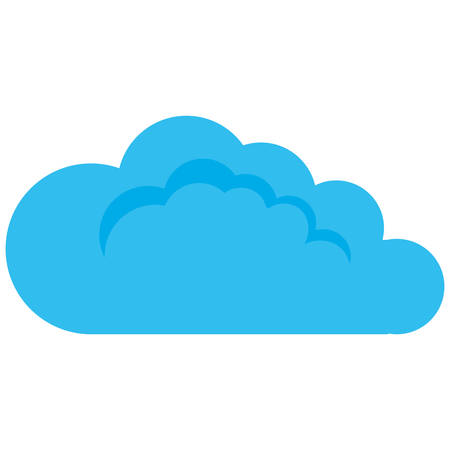 cloud climate weather on white background design vector illustration Stock Illustratie