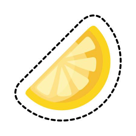 patch of lemon citrus fruit portion icon vector illustration design