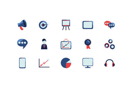 social media and technology icon set pack, High Quality variety symbols Vector illustration