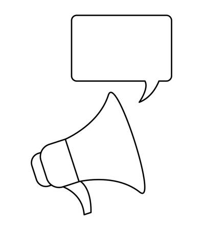 megaphone sound with speech bubble vector illustration design