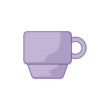 cup ceramic dishware isolated icon vector illustration design Illustration