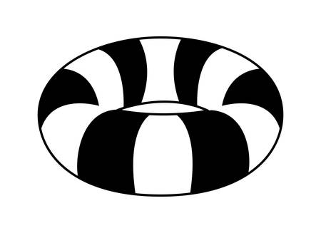 float life guard summer icon vector illustration design