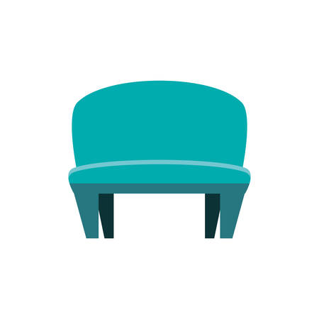 Blue chair design, seat furniture interior home comfortable style and object theme Vector illustration Illustration