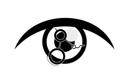 eye human with circuit vector illustration design