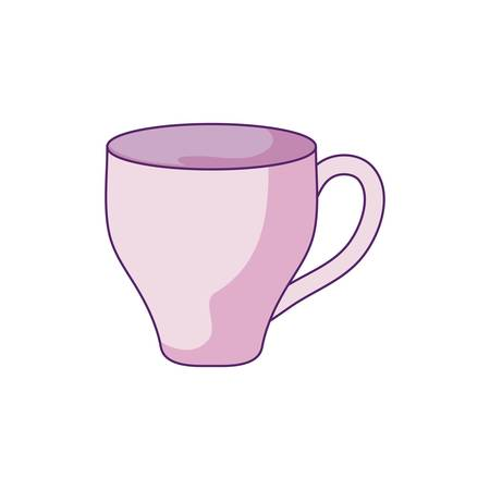 cup ceramic dishware isolated icon vector illustration design Illusztráció