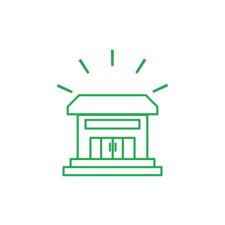 house facade building isolated icon vector illustration design Illusztráció
