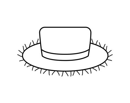 hat wicker traditional isolated icon vector illustration design
