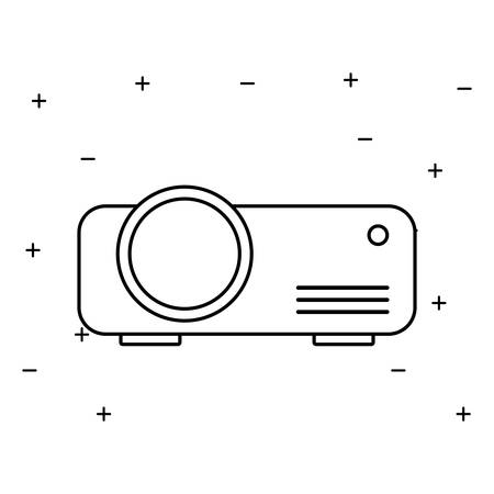 video beam projector isolated icon vector illustration design