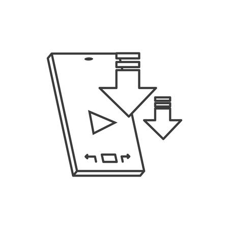 smartphone device with media player technology vector illustration design