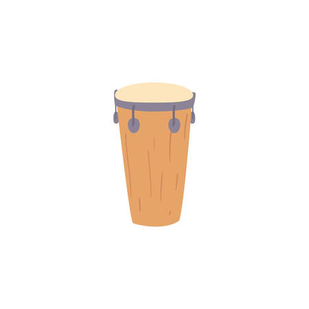 musical instrument congas on white background vector illustration design  イラスト・ベクター素材